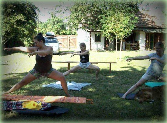 Chi-kunggal végzett ergonómiai gyakorlat - Tiszapüspöki edzőtábor 2013