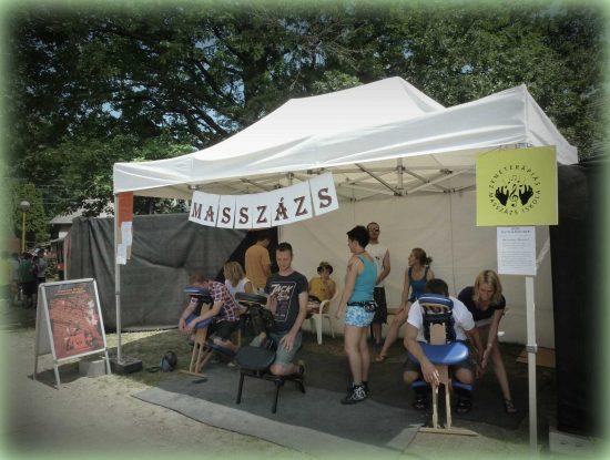 Masszázs stand a fesztiválozóknak - VOLT Fesztivál 2012