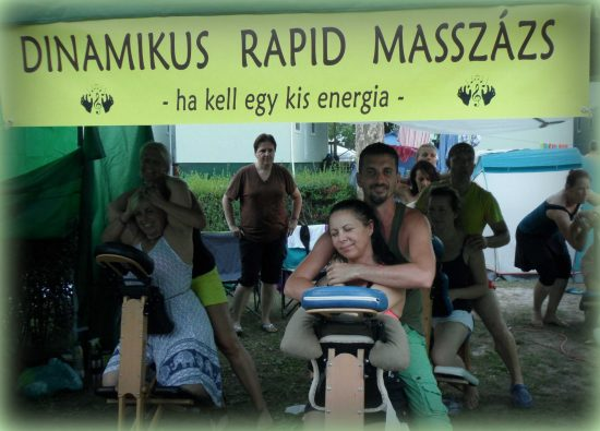 A Rapid Massage Service standja - Everness Fesztivál 2018
