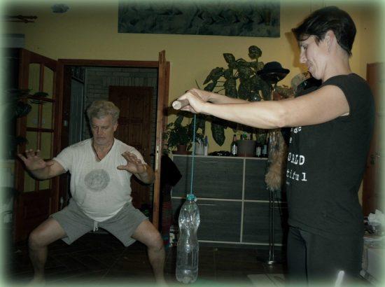 Erőnléti gyakorlat Dinamikus Rapid Masszázs edzésen