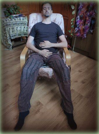 karok és lábak helyzete légzőgyakorlathoz