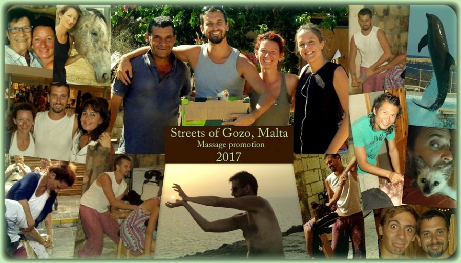 Promómasszázsok Gozo, Málta 2017